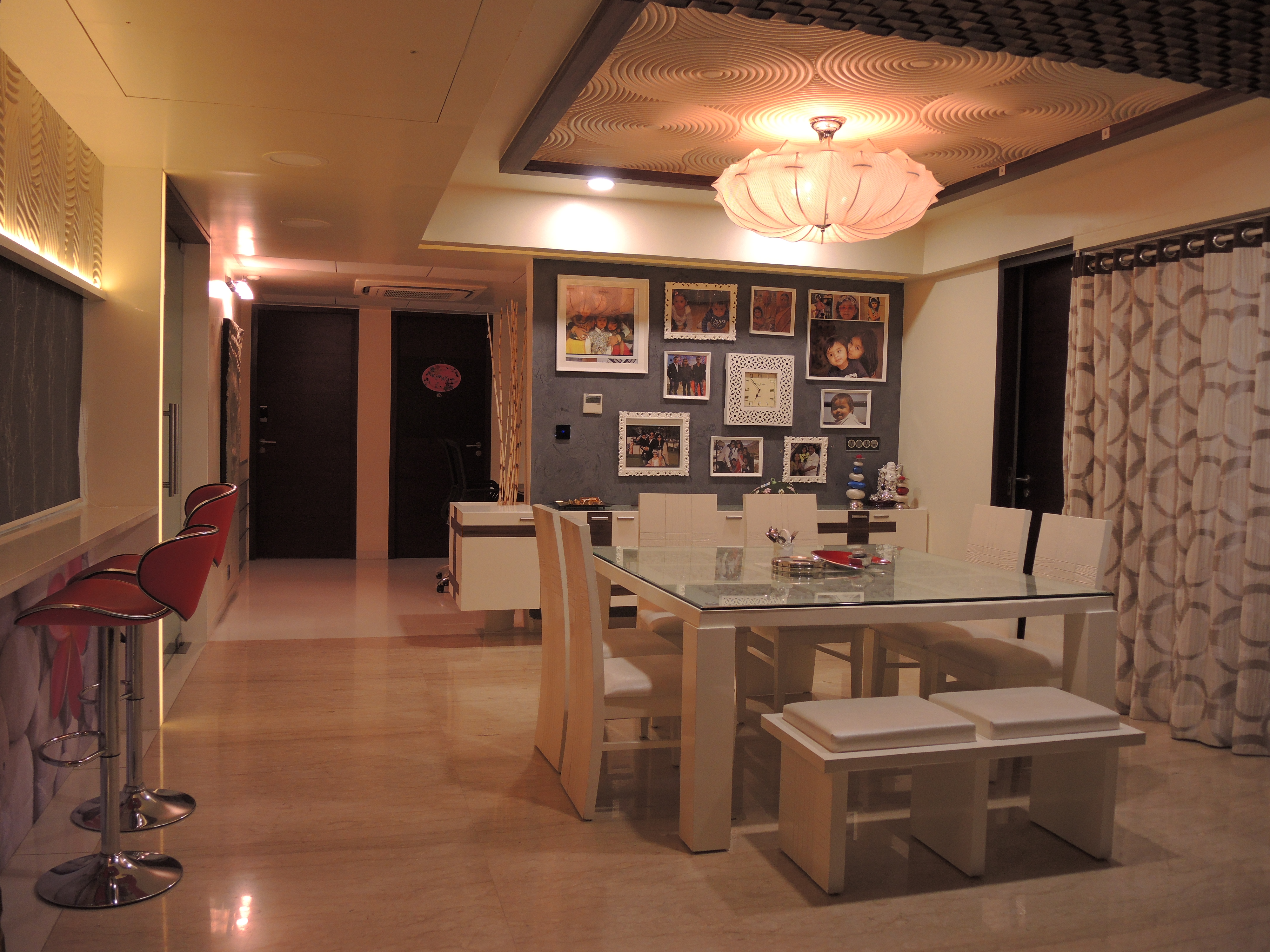 INTERIOR DESIGN OF APPARTMENT AT RIVIERA ANTILIA,AHMEDABAD
